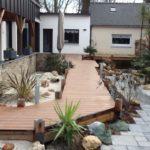 Terrasse composite allée